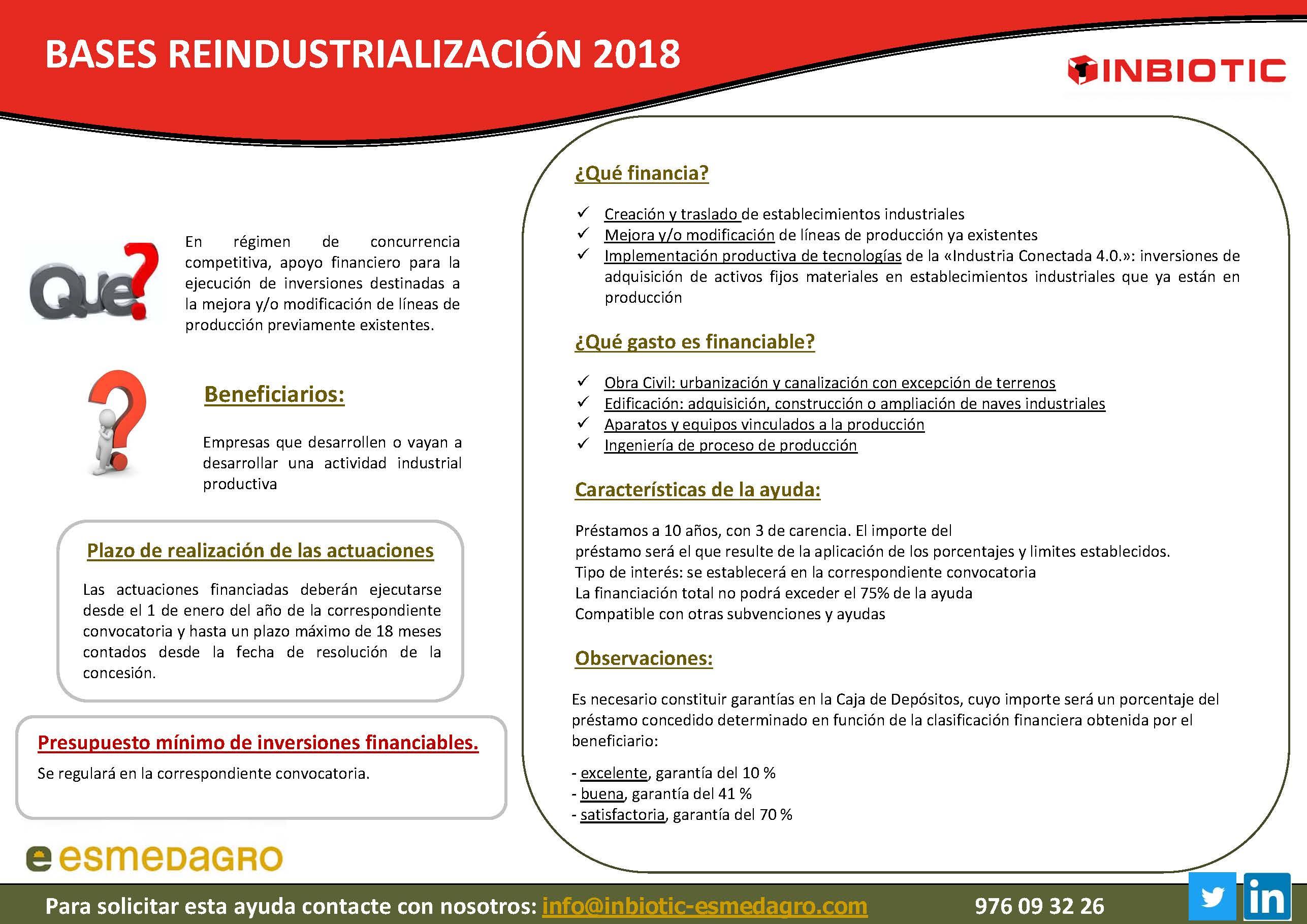 BASES REINDUSTRIALIZACIÓN 2018