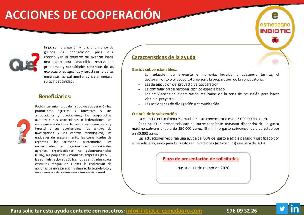 ACCIONES DE COOPERACIÓN