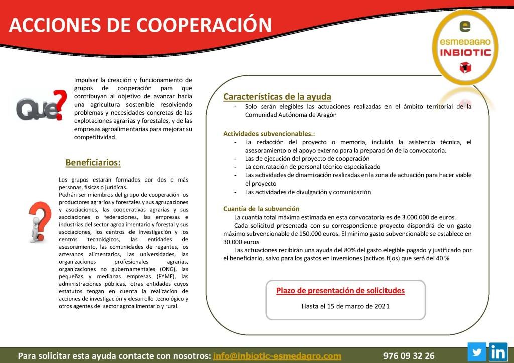 ACCIONES DE COOPERACIÓN 21
